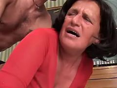 Granny fucked in mouth and asshole