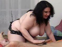 Fat cutie throats appetizing cock