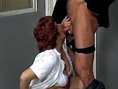 Old plump nurse throats fresh cock