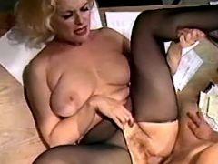 Plump secretary gets cum