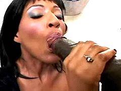 Chocolate girl gets poked