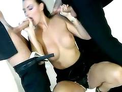 Vamp suck two dicks