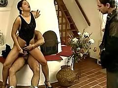 Horny latin couple sex