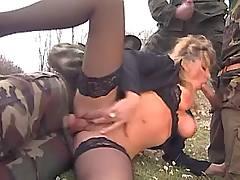 Chick sucking of hunters