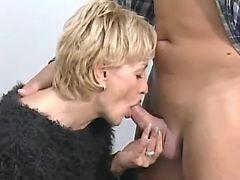 Secretary throats cock