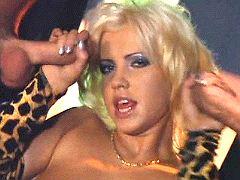 Porno show in night club
