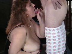 Breasty mom going horny