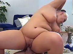 Man drilling blonde fatty
