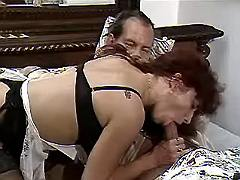 Mature maid seduces lord