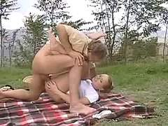 Picnic ends with facial