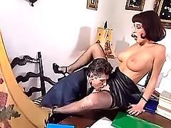 Boss licks beauty pussy