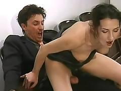 Secretary&boss have fun