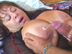 Mature plumper gets cum