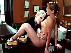 Hot lezzie seduces blonde