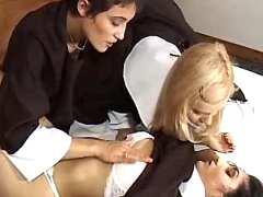 Lewd nuns have fun in bed
