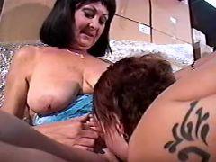 Lesbian serves old pussy