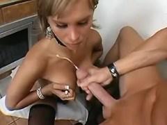 TS making her lover jizz