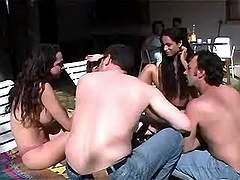 Tranny arranges sex party