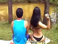 Guy n ts go wild at lake