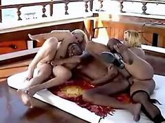Trannies in orgy on yacht