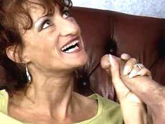 Mom doing hand n blow job