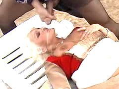 Mom gets facial outdoor