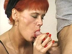 Old redhead housewife sex